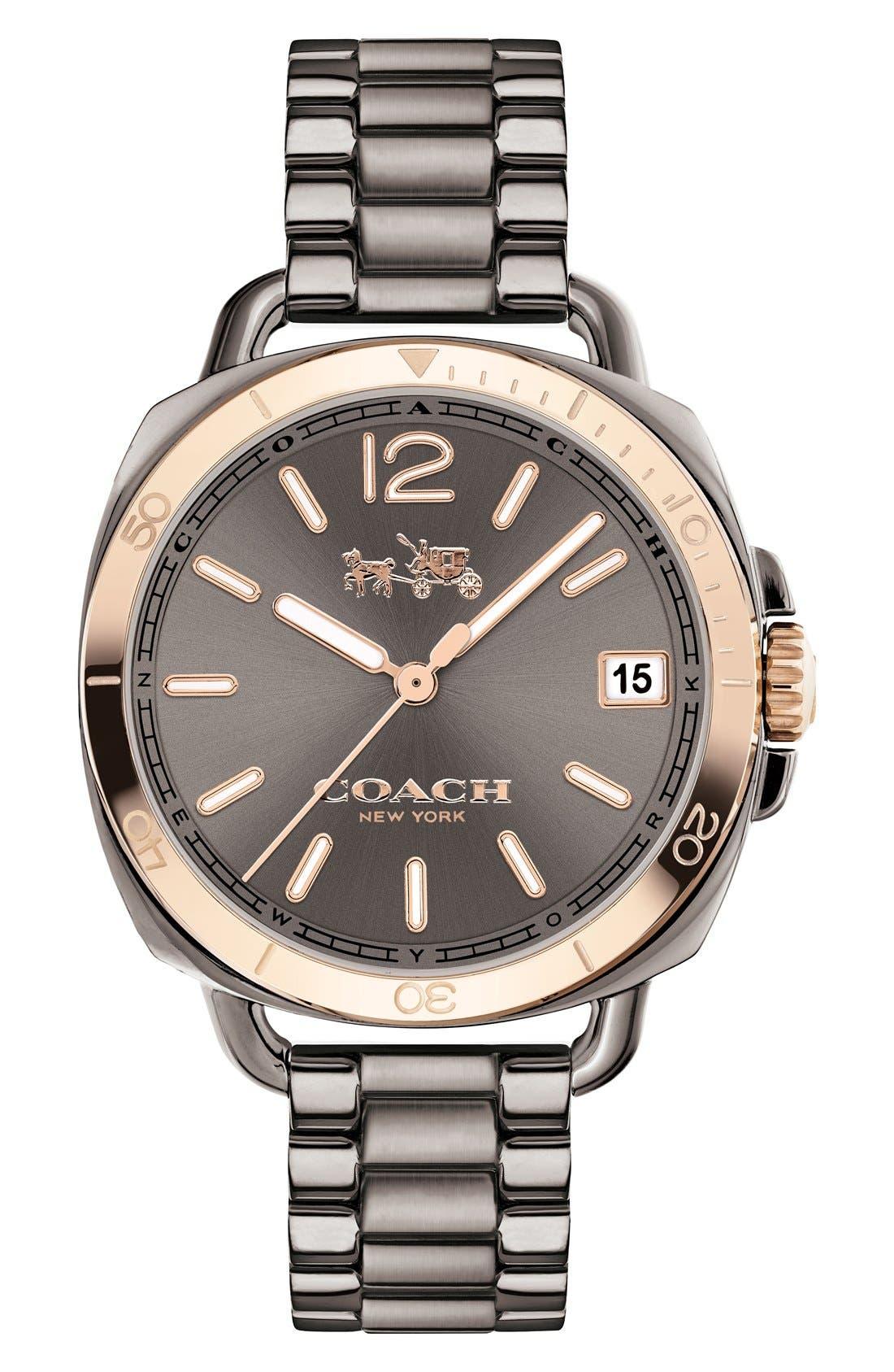 Main Image - Coach 'Tatum' Square Bracelet Watch, 36mm