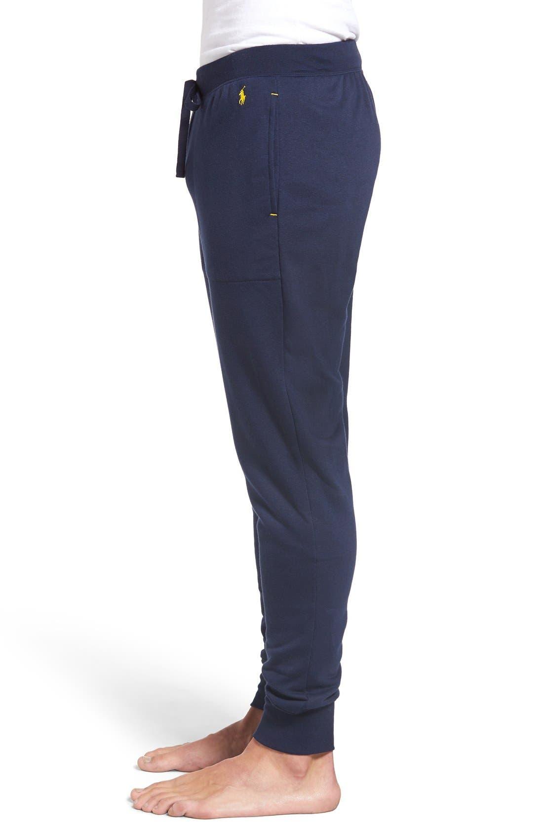 Alternate Image 3  - Polo Ralph Lauren Brushed Jersey Cotton Blend Jogger Pants