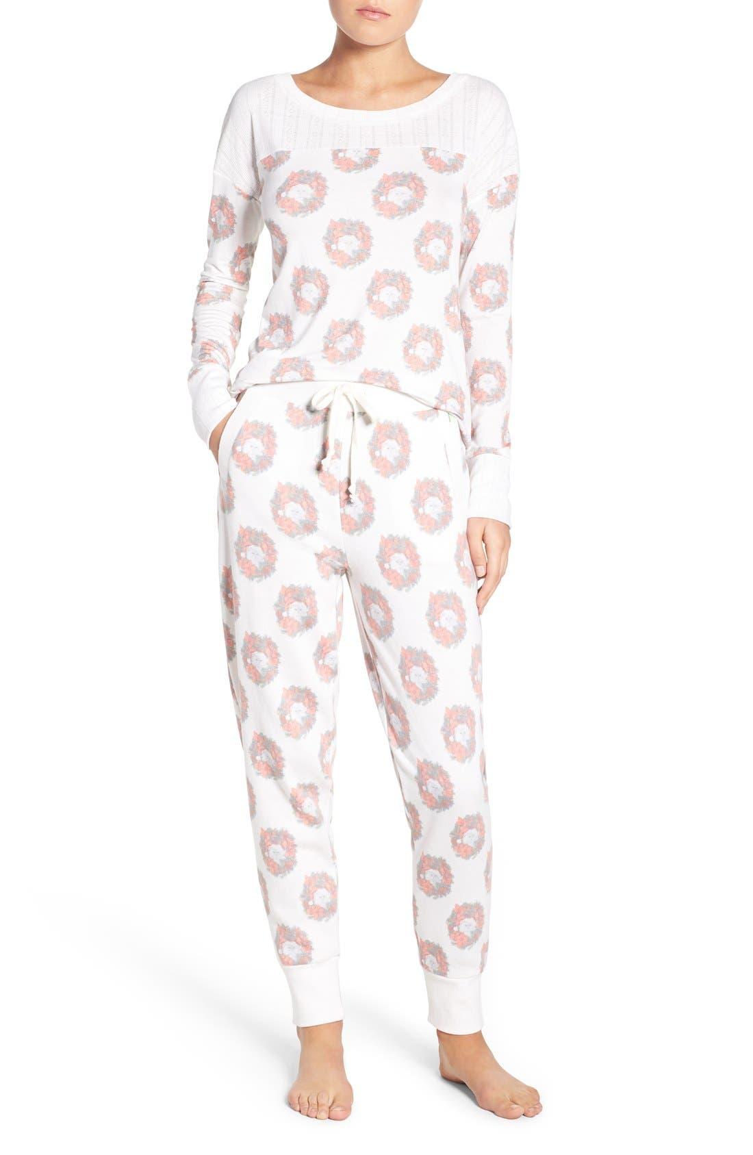 Alternate Image 1 Selected - Honeydew Intimates Fleece Pajamas