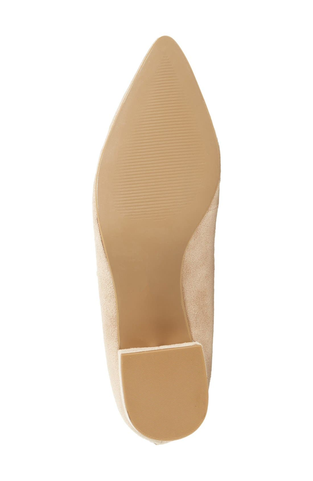 Matisse 'Sonia' Lace-Up Pump,                             Alternate thumbnail 4, color,                             Natural
