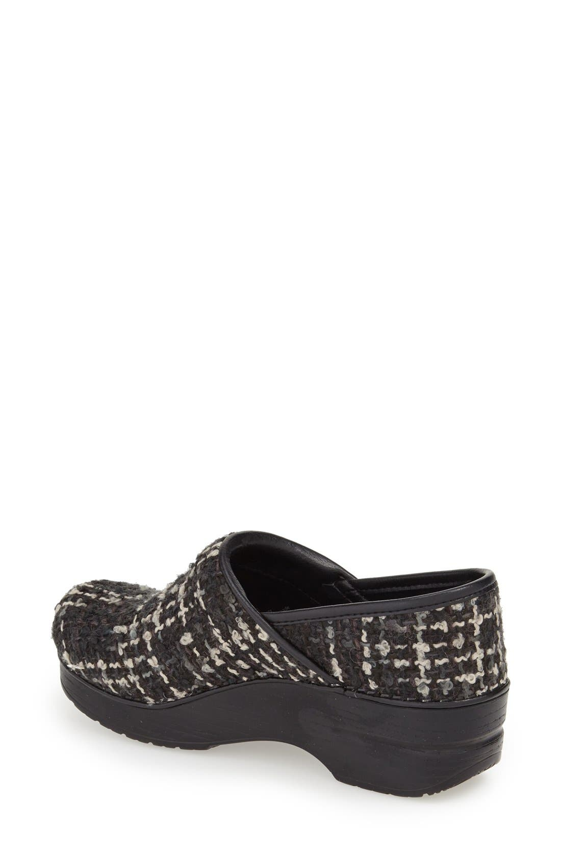 'Pro' Pattern Clog,                             Alternate thumbnail 2, color,                             Black Textured Fabric
