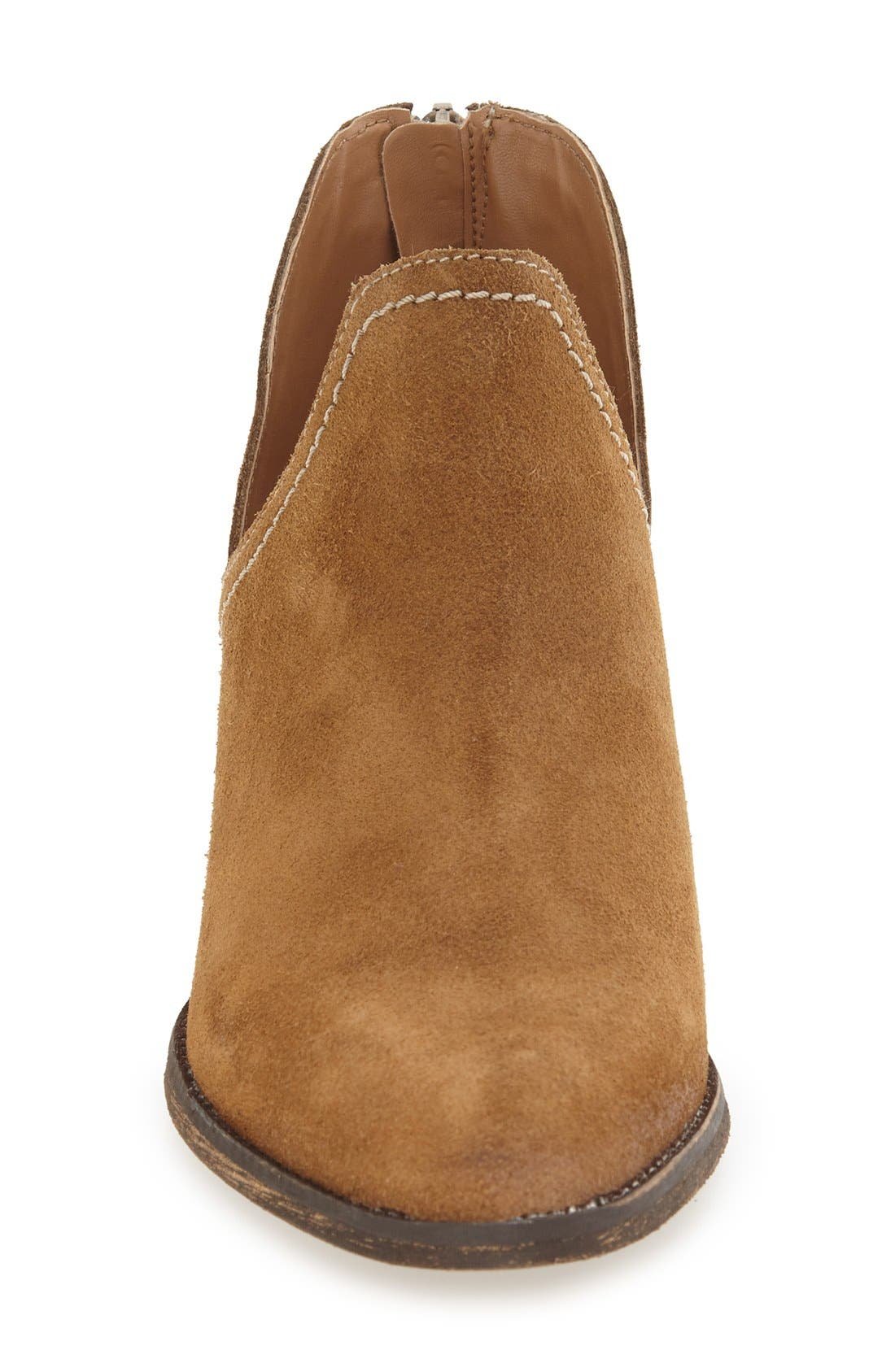 'Bai' Bootie,                             Alternate thumbnail 3, color,                             Tobacco Suede