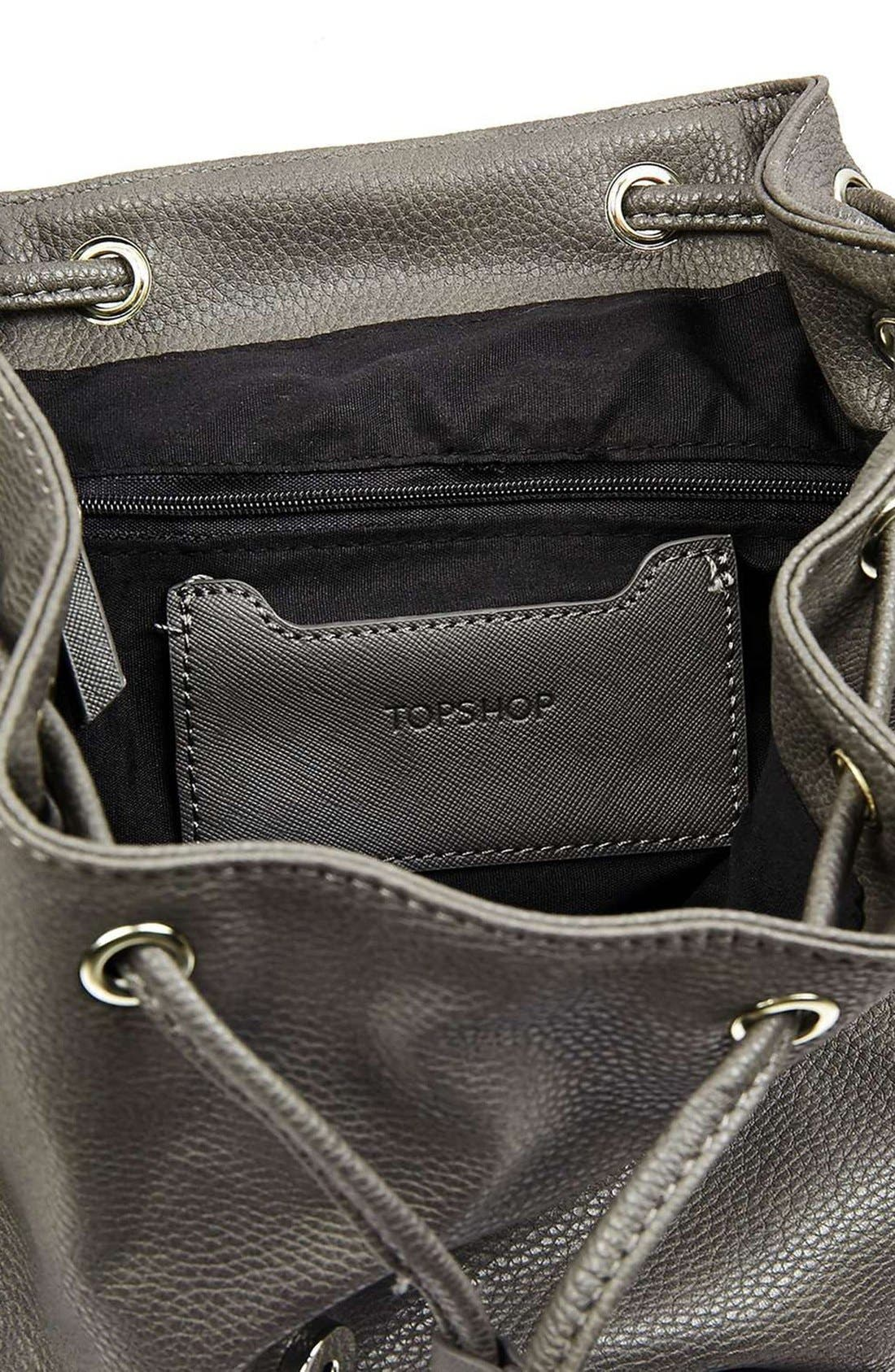 Alternate Image 4  - Topshop Faux Leather Backpack