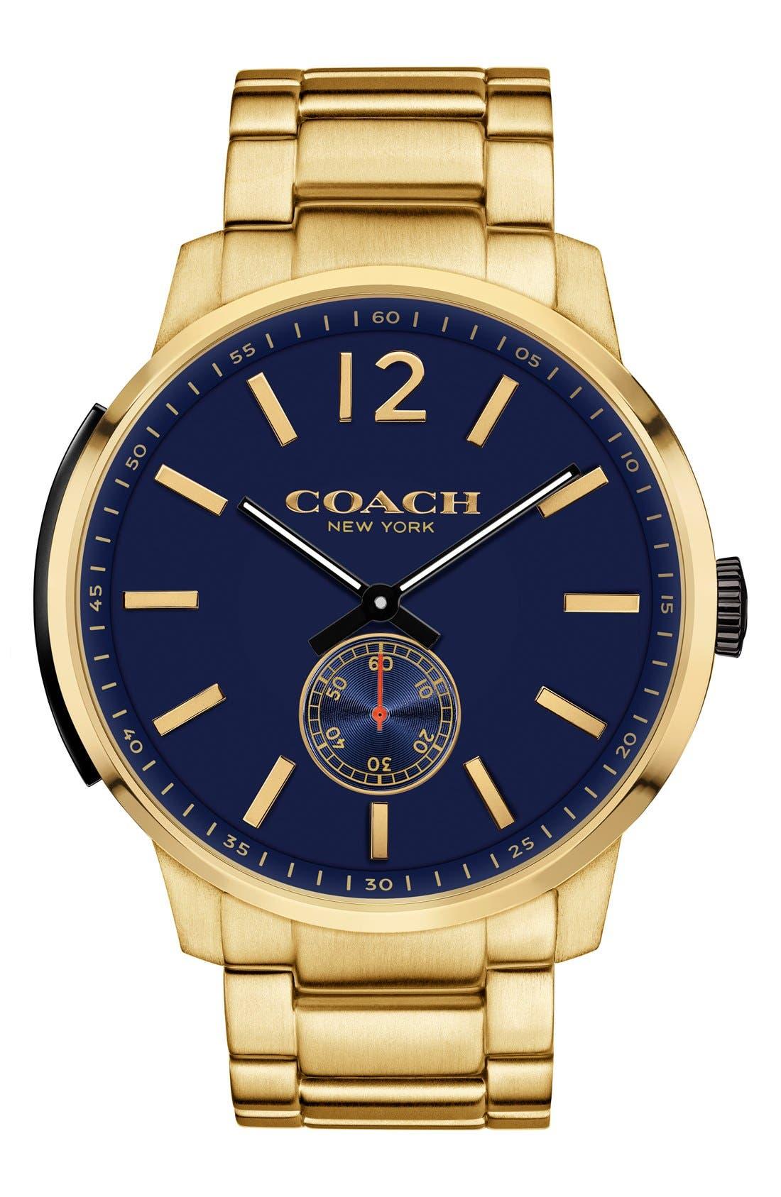 Main Image - COACH 'Bleeker' Round Bracelet Watch, 46mm