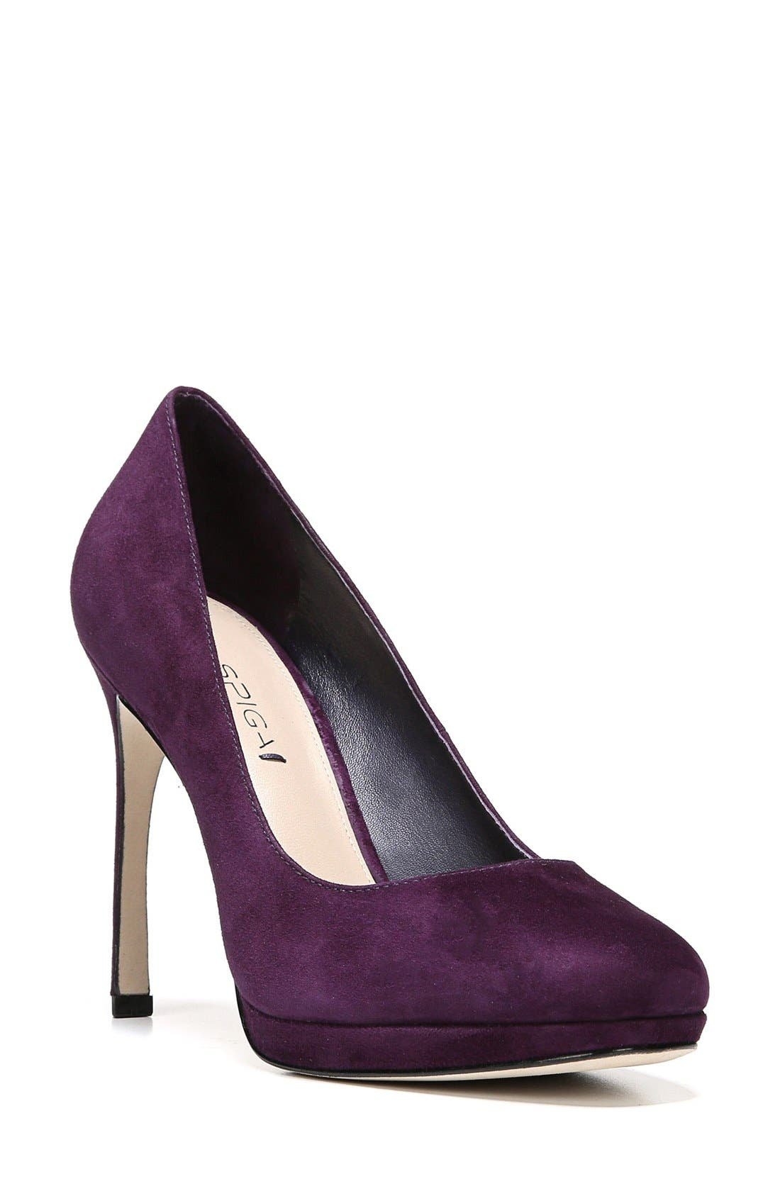 Alternate Image 1 Selected - Via Spiga 'Siena' Platform Pump (Women)