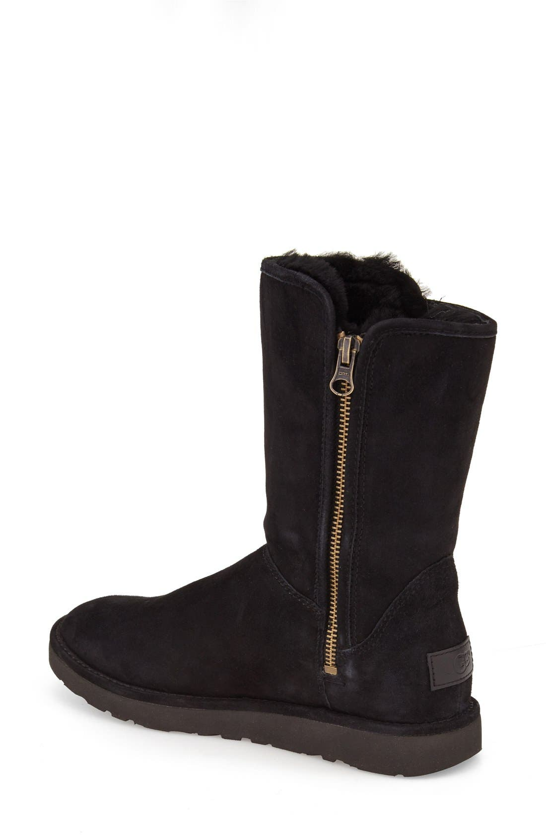 Abree II Short Boot,                             Alternate thumbnail 2, color,                             Nero Suede