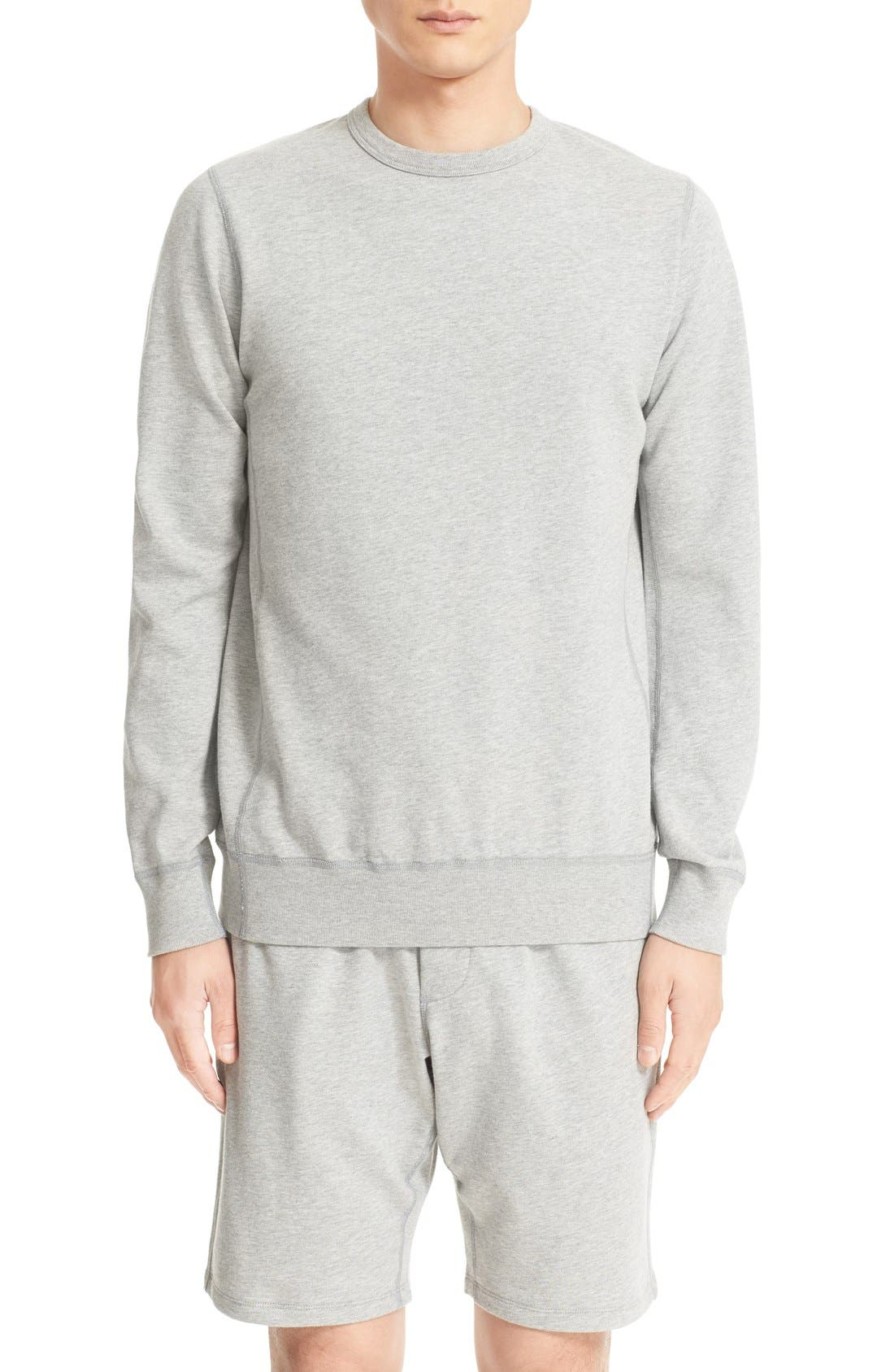 French Terry Sweatshirt,                             Main thumbnail 1, color,                             Heather Grey