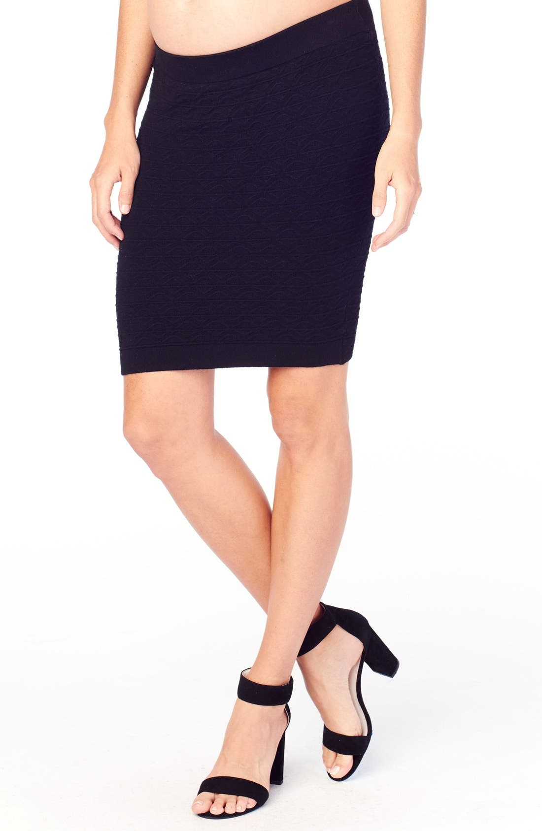 Alternate Image 3  - Ingrid & Isabel Textured Knit Maternity Skirt