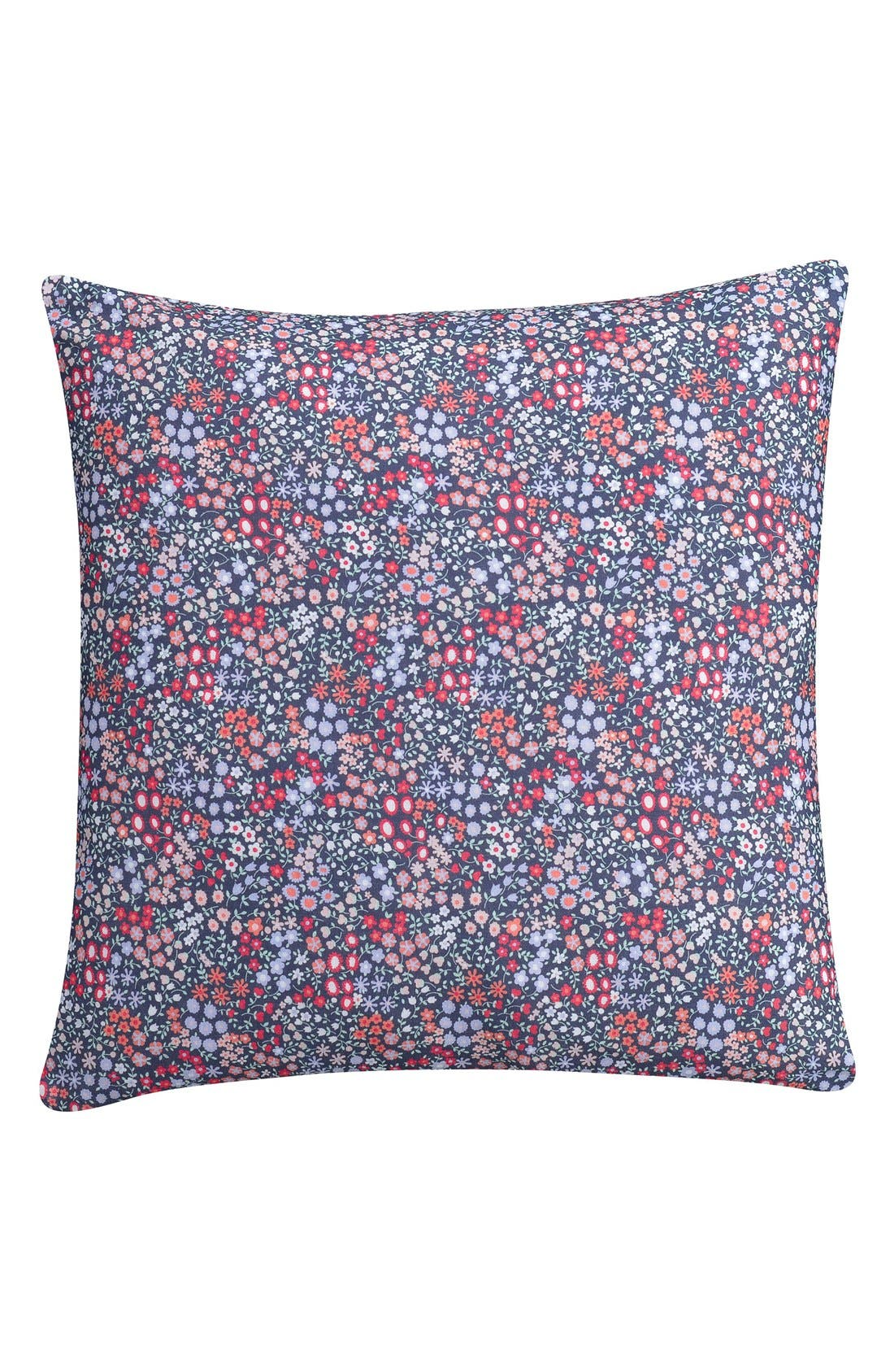 'Sketch' Floral Print Accent Pillow,                         Main,                         color, Red/ Multi