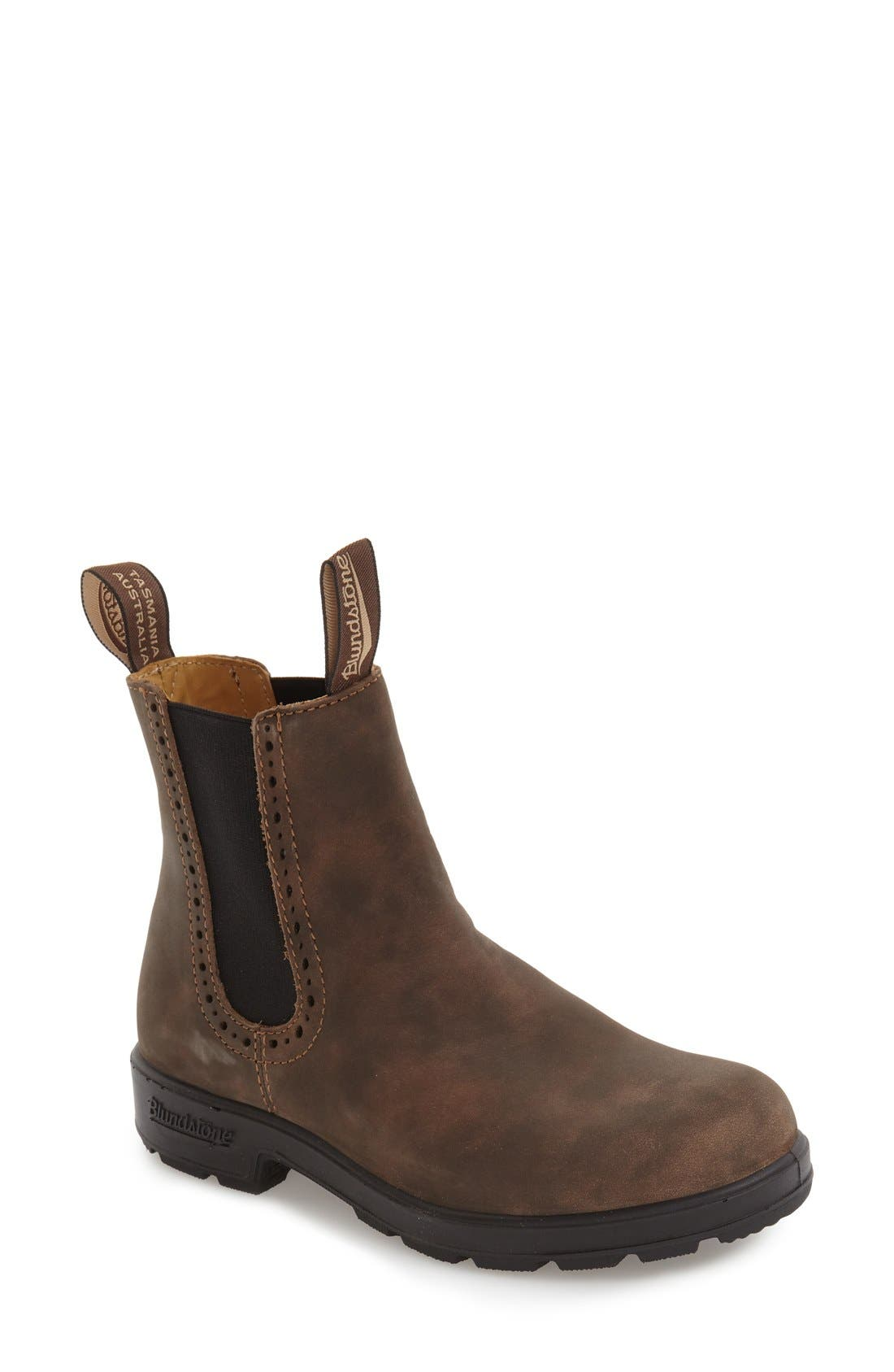 Footwear 'Original Series' Water Resistant Chelsea Boot,                             Main thumbnail 1, color,                             Rustic Brown Leather