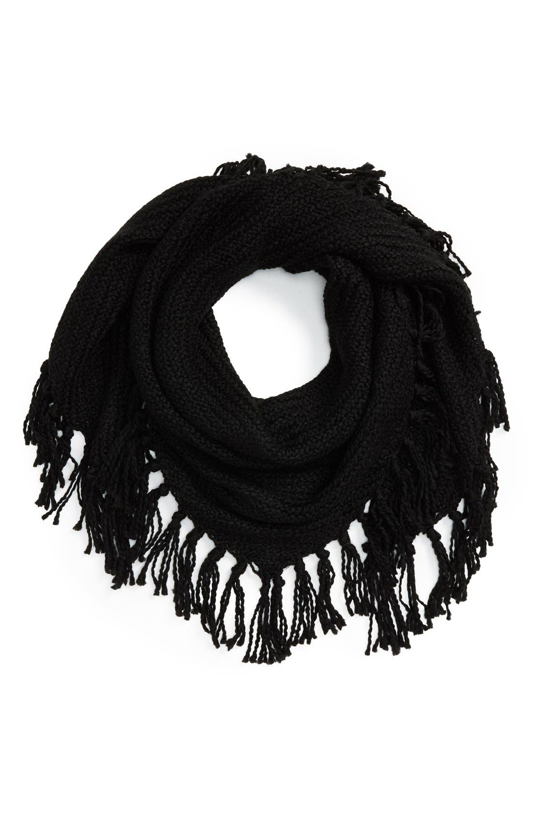 Knit Scarf,                         Main,                         color, Black