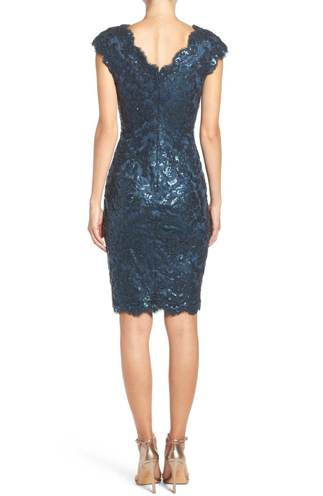 Alternate Image 2  - Tadashi Shoji Sequin Sheath Dress (Regular & Petite)