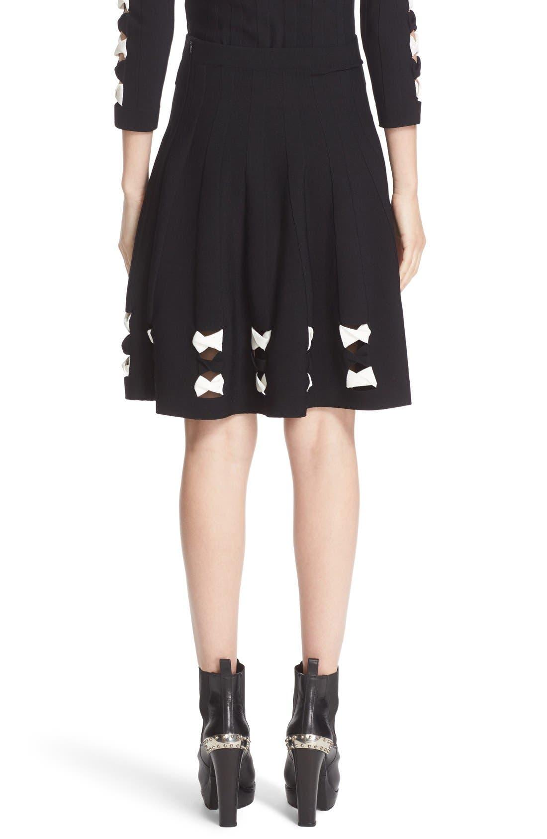 Alternate Image 3  - Alexander McQueen Twisted Cutout Skirt