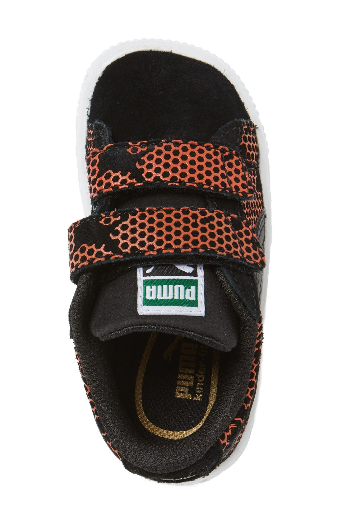 'Night Camo' Sneaker,                             Alternate thumbnail 3, color,                             Puma Black/ Mandarine Red