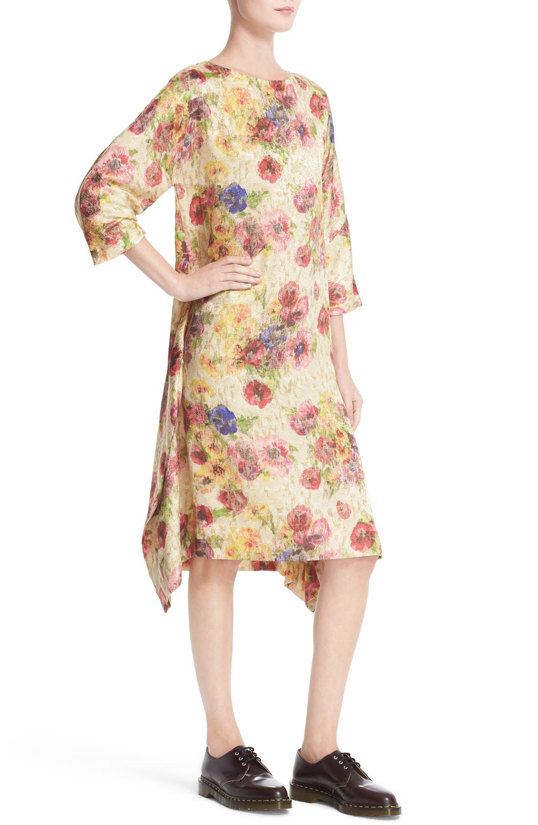 Alternate Image 6  - Comme des Garçons Floral Jacquard Shift Dress