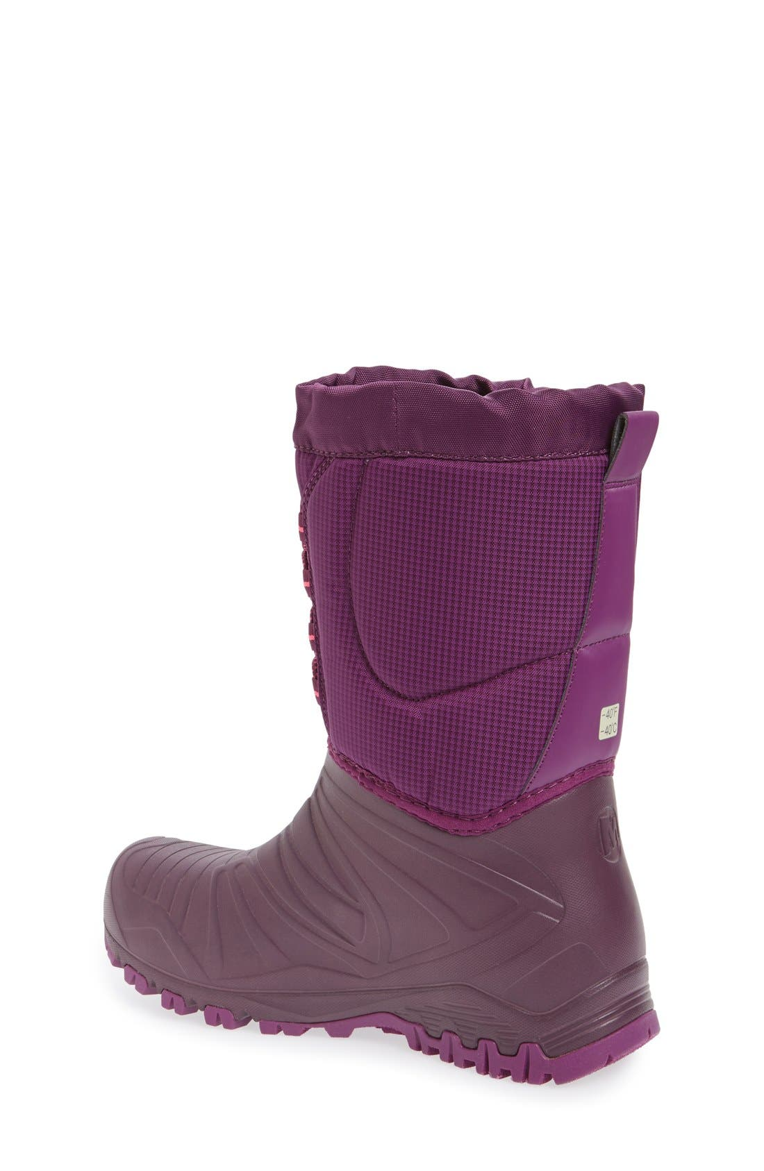 'Snow Quest' Waterproof Boot,                             Alternate thumbnail 2, color,                             Berry