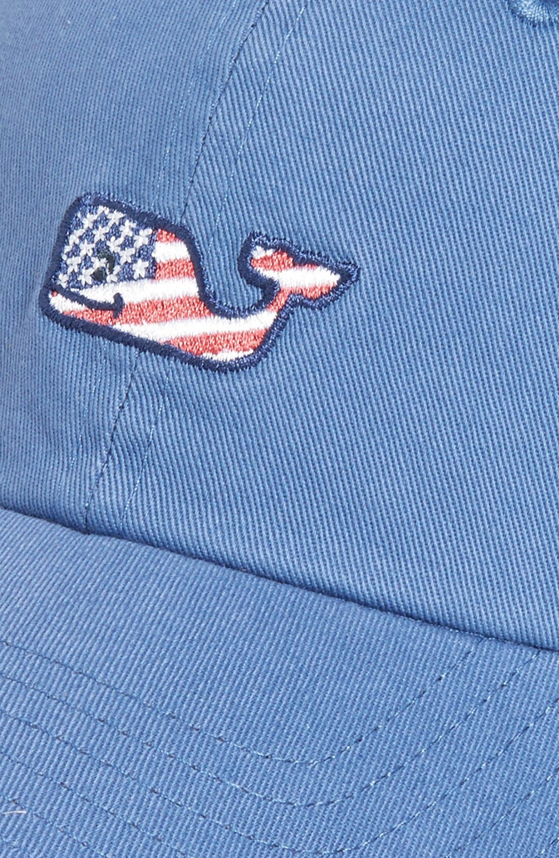 Alternate Image 3  - vineyard vines Flag Whale Logo Baseball Cap