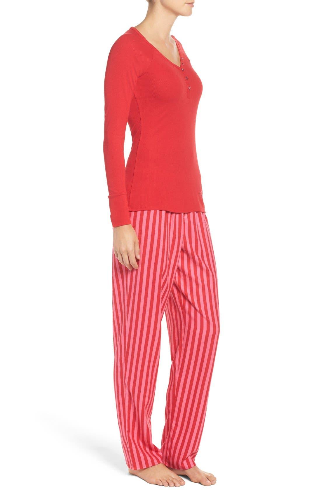 Alternate Image 4  - Betsey Johnson Flannel Pajamas