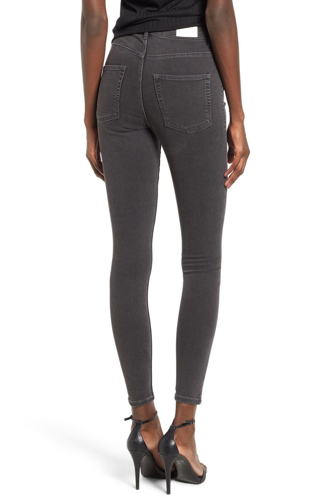 Alternate Image 2  - Cheap Monday High Rise Skinny Jeans