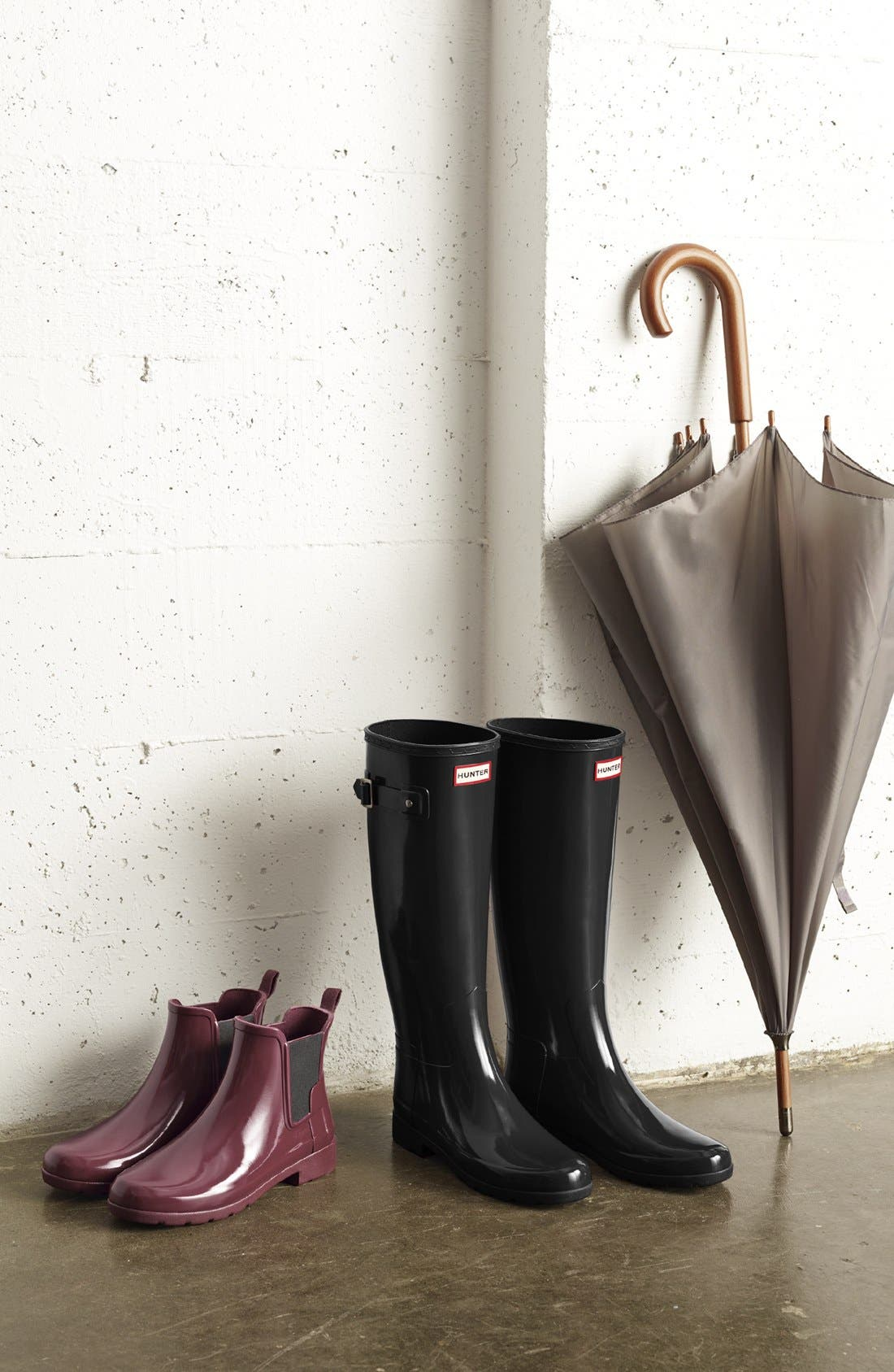 'Original Refined' High Gloss Rain Boot,                             Alternate thumbnail 3, color,