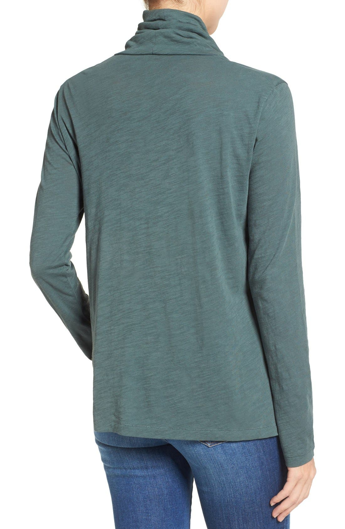 Alternate Image 2  - Madewell Whisper Cotton Turtleneck Top
