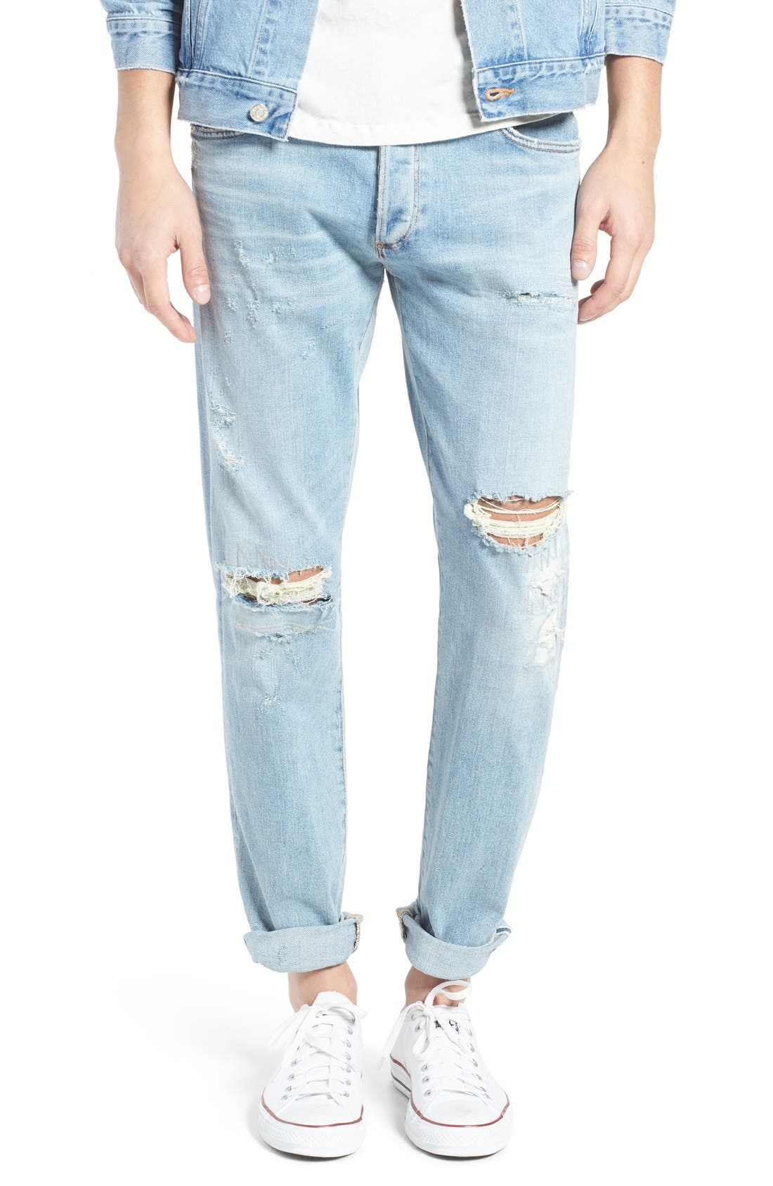 Alternate Image 2  - AGOLDE Skinny Fit Distressed Jeans (Pixx) (Men)