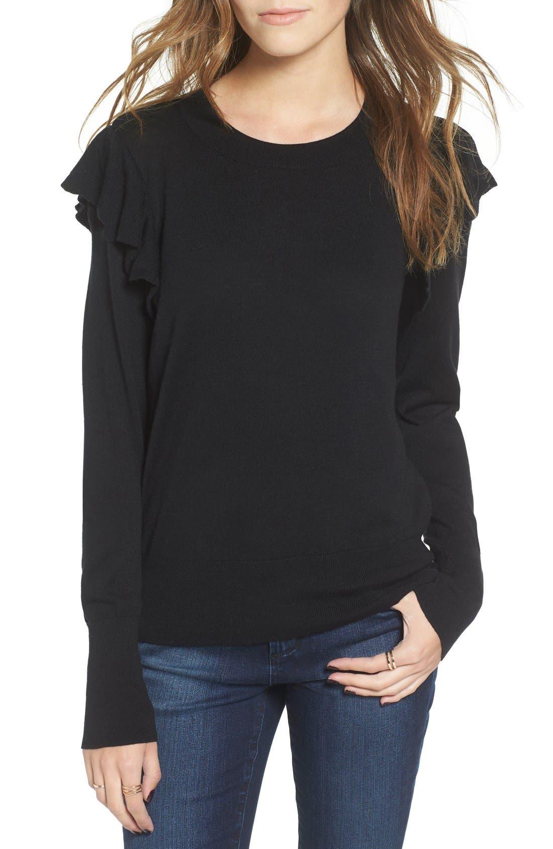 Main Image - BP. Knit Ruffle Sleeve Pullover