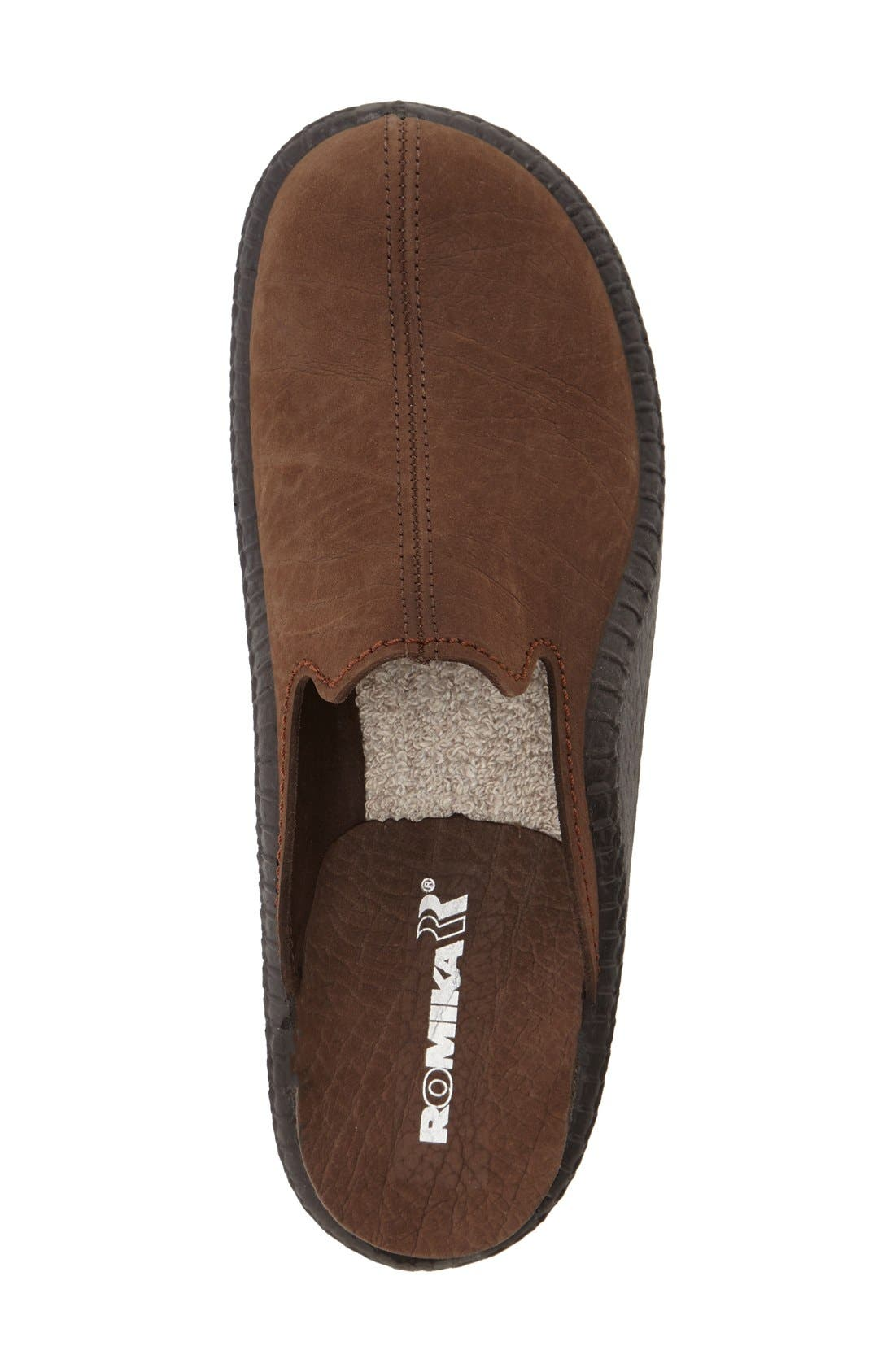 'Mokasso 102' Mule,                             Alternate thumbnail 3, color,                             Brown Leather