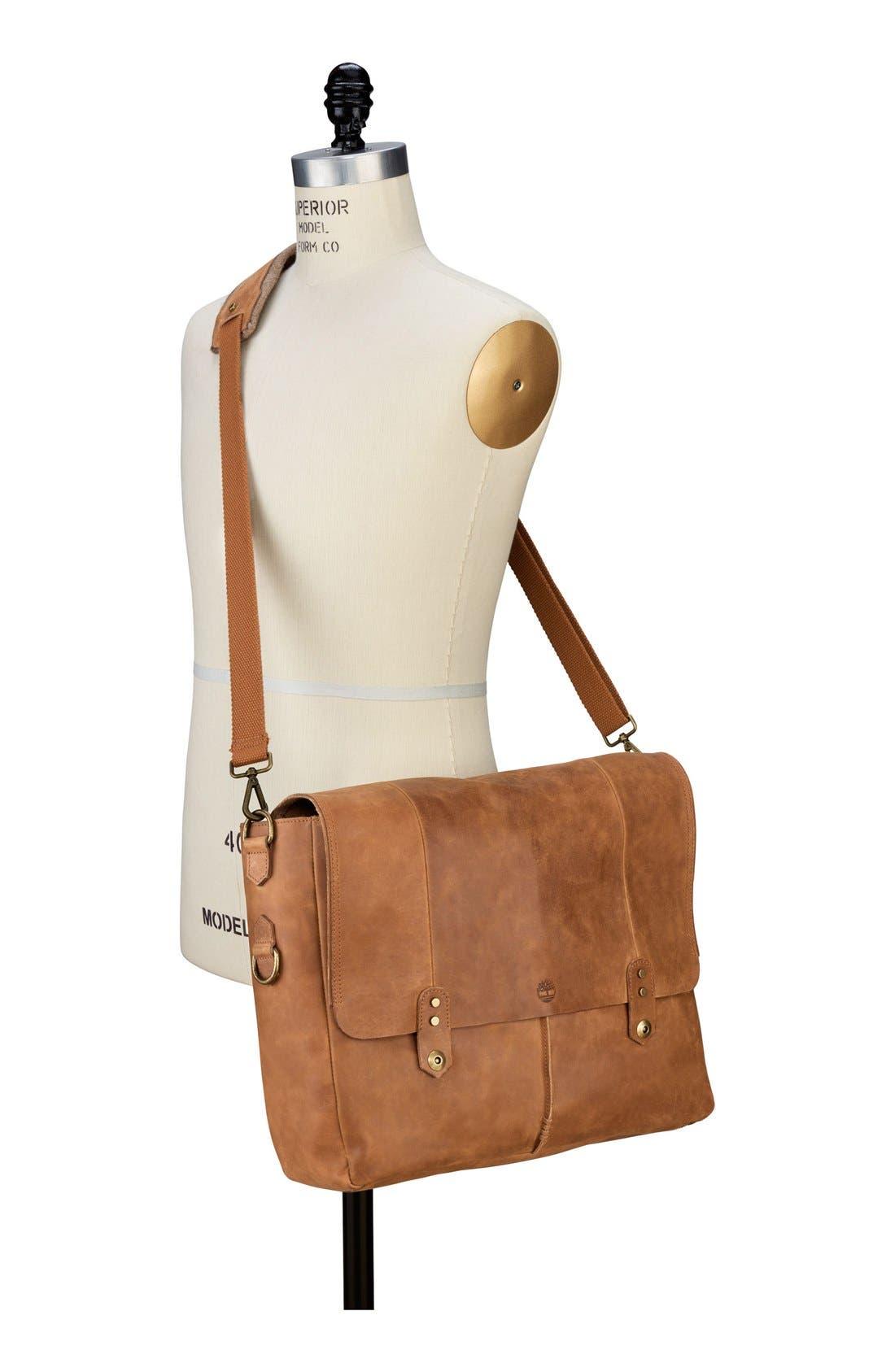 Alternate Image 2  - Timberland 'Walnut Hill' Leather Messenger Bag