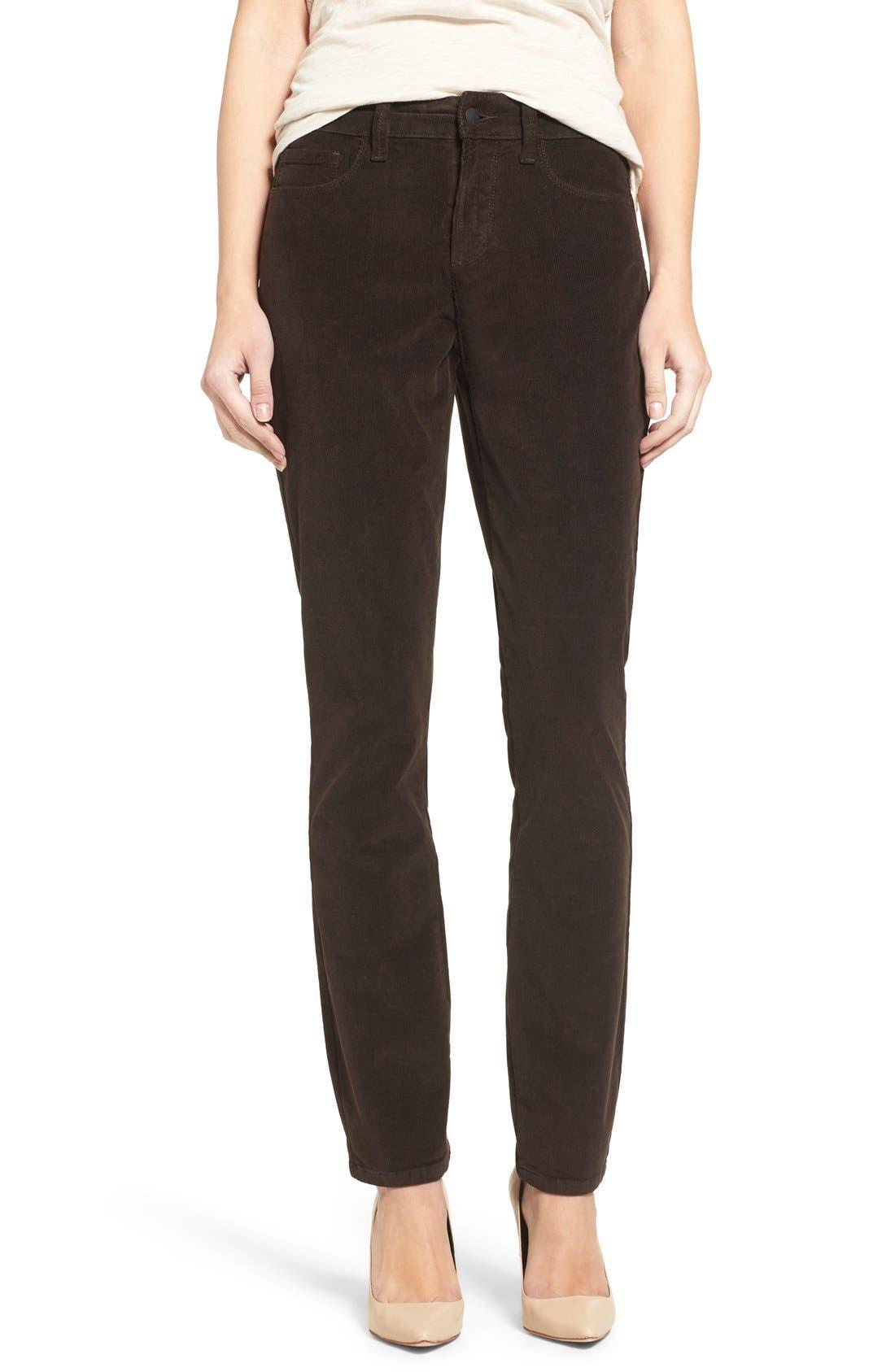 Alternate Image 1 Selected - NYDJ 'Alina' Skinny Stretch Corduroy Pants (Regular & Petite)