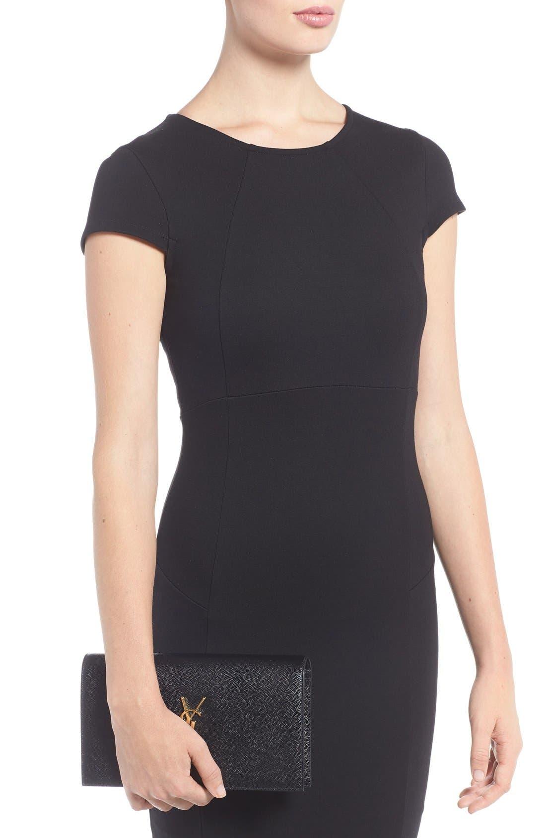 Saint Laurent Kate Monogram Ysl Leather Belt Bag Black