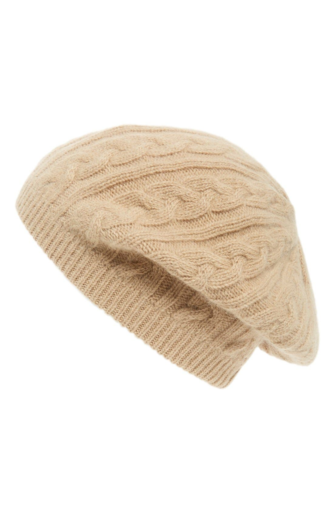 Alternate Image 1 Selected - Sole Society Cable Knit Beret
