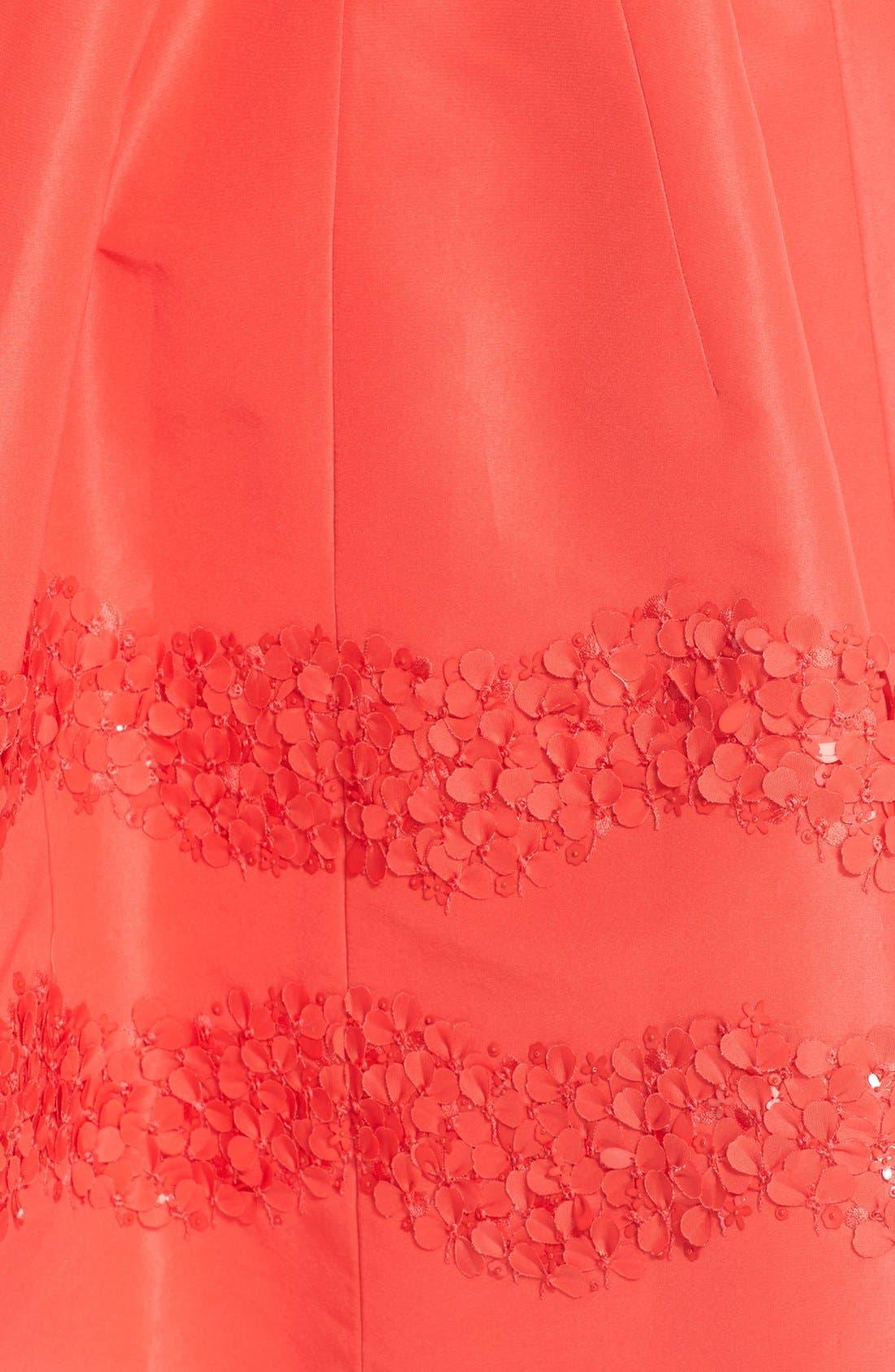 Alternate Image 3  - Carolina Herrera Embellished Belted Silk Faille A-Line Shirtdress