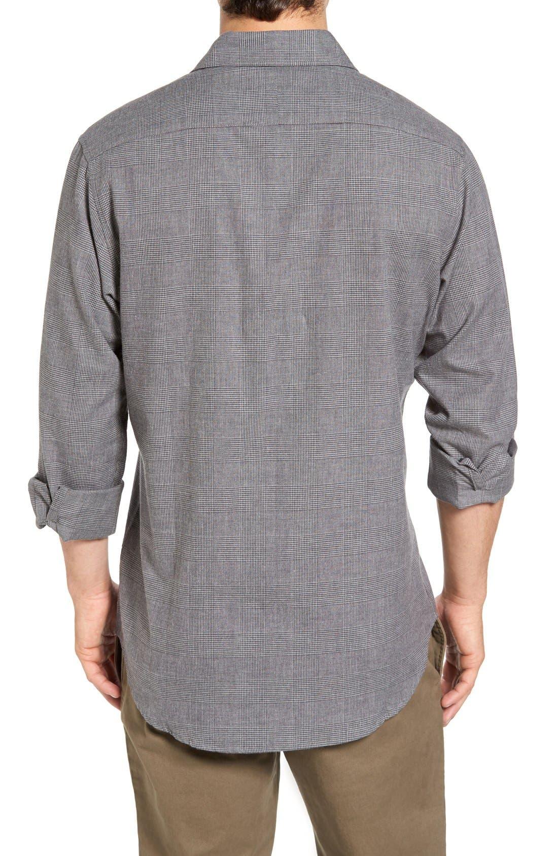Alternate Image 2  - Singer + Sargent Regular Fit Glen Plaid Sport Shirt