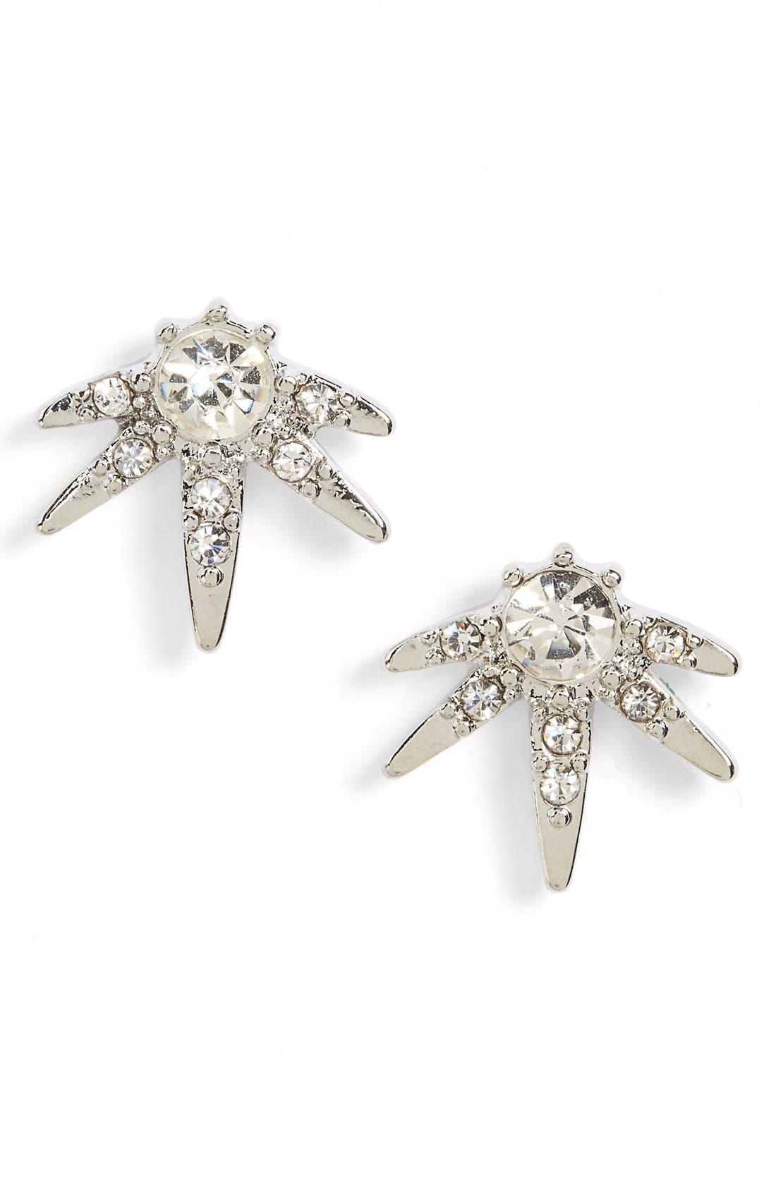 Alternate Image 1 Selected - Sole Society Crystal Starburst Stud Earrings
