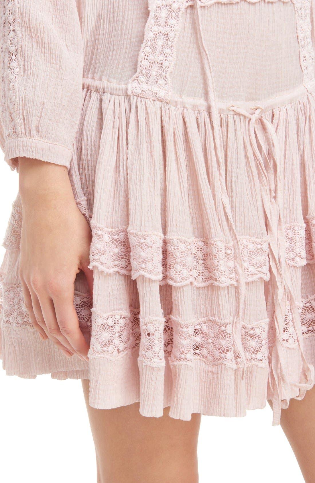 Alternate Image 2  - Givenchy Ruffle Crepon Peasant Dress