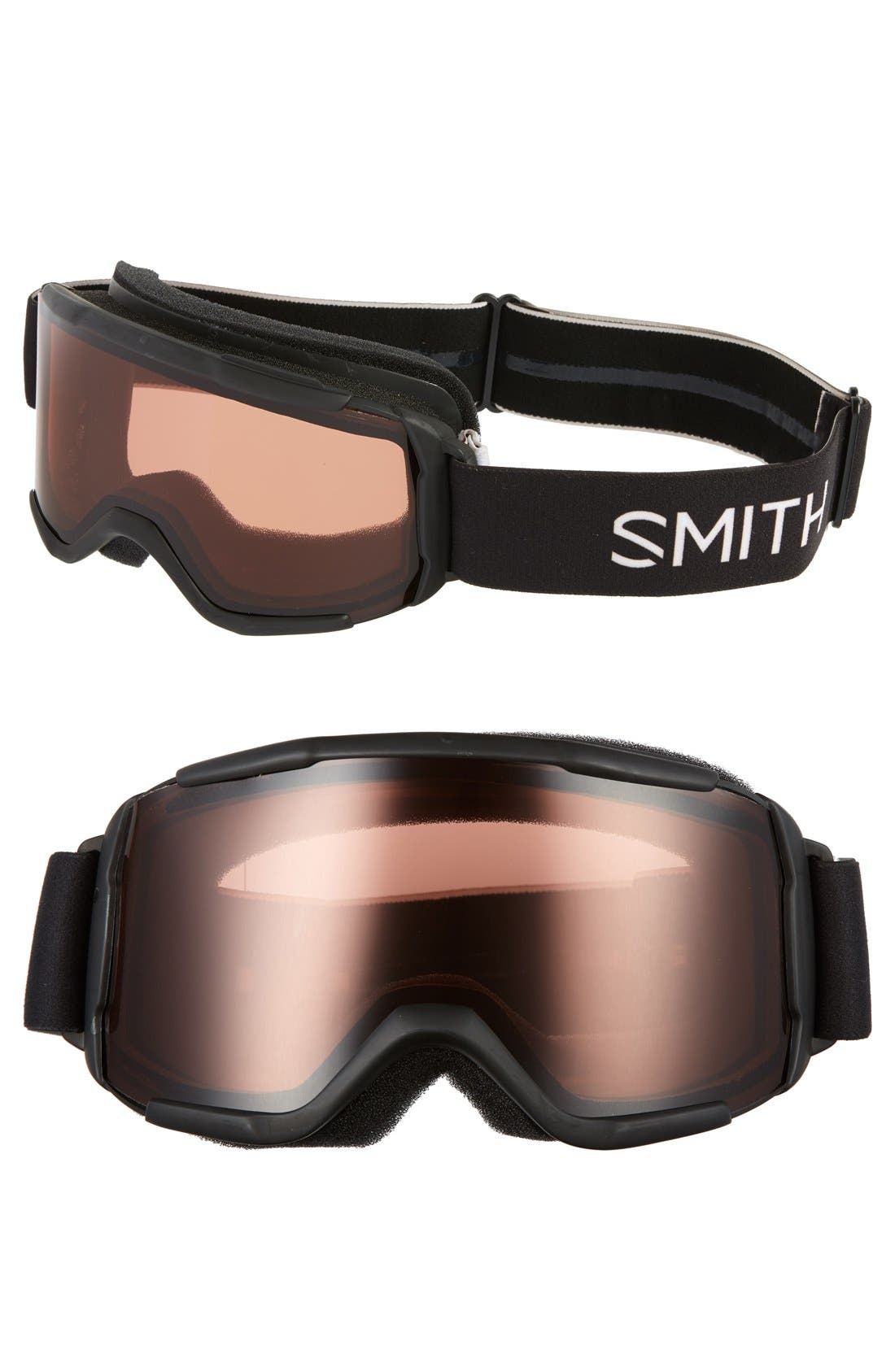 'Daredevil' Snow Goggles,                             Main thumbnail 1, color,                             Black/ Rc36