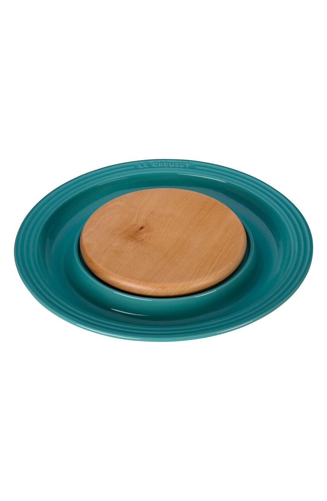 Round Platter with Cutting Board,                         Main,                         color, Caribbean