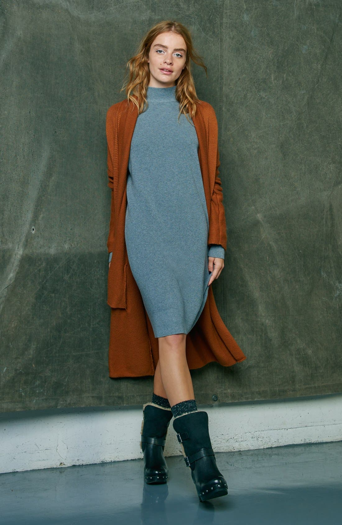 Alternate Image 6  - Leith Easy Fit Long Cotton Blend Cardigan