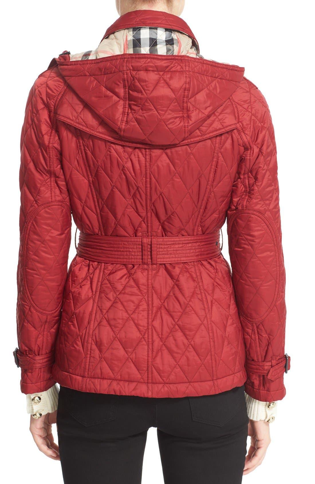 Alternate Image 2  - Burberry Finsbridge ShortQuilted Jacket