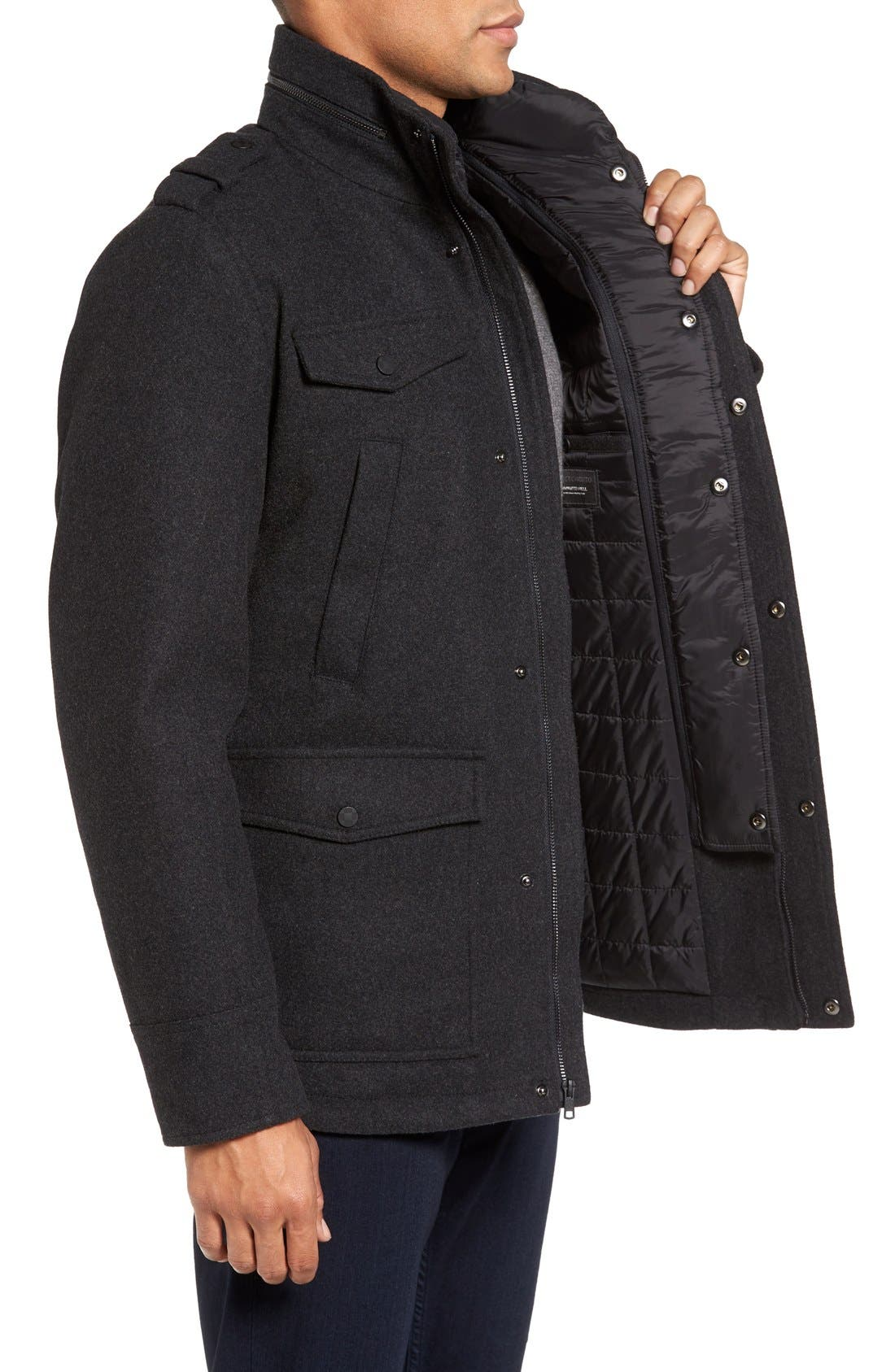 Alternate Image 3  - Vince Camuto Austin Wool Blend Military Coat