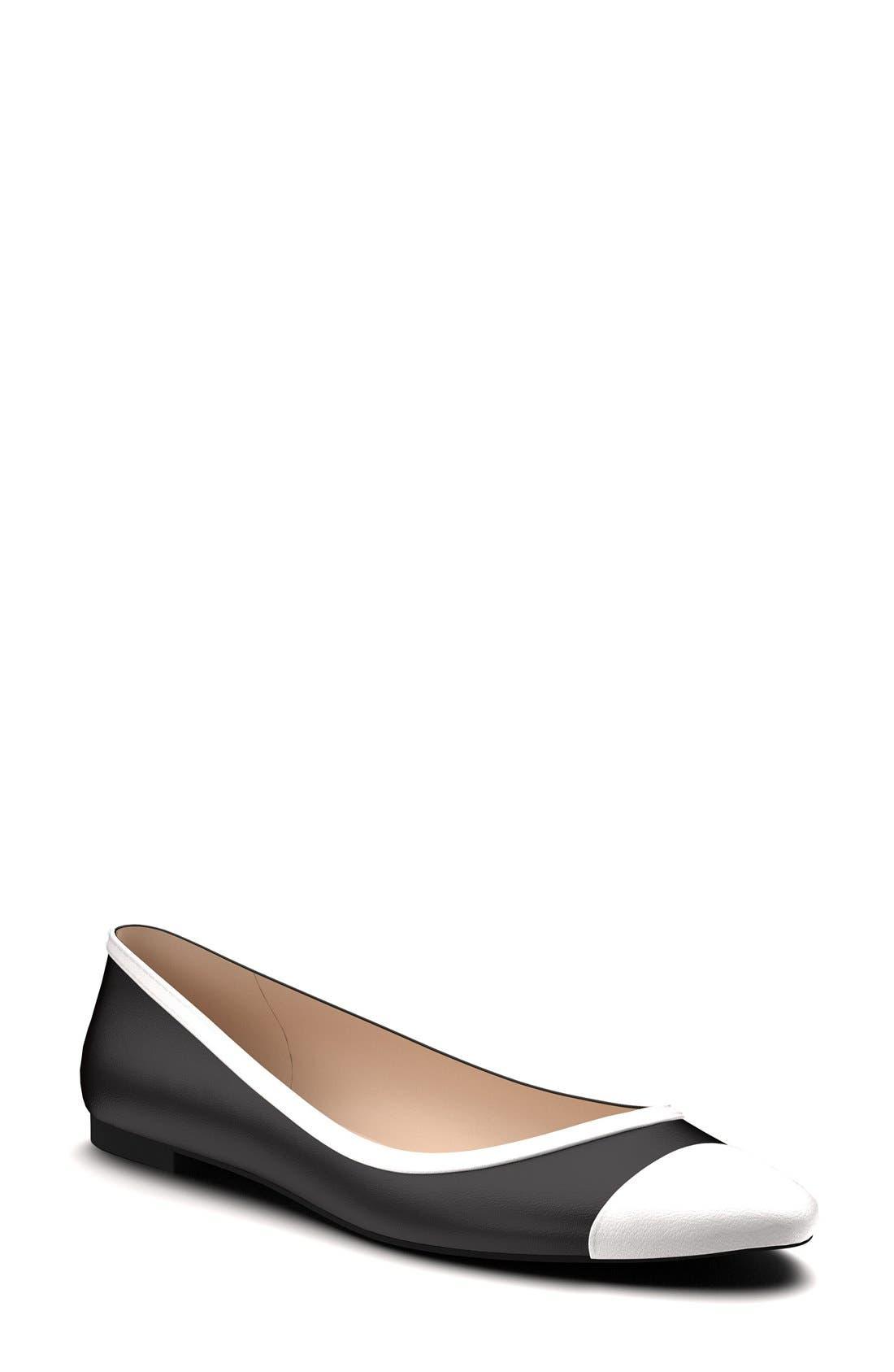 Alternate Image 1 Selected - Shoes of Prey Cap Toe Flat (Women)