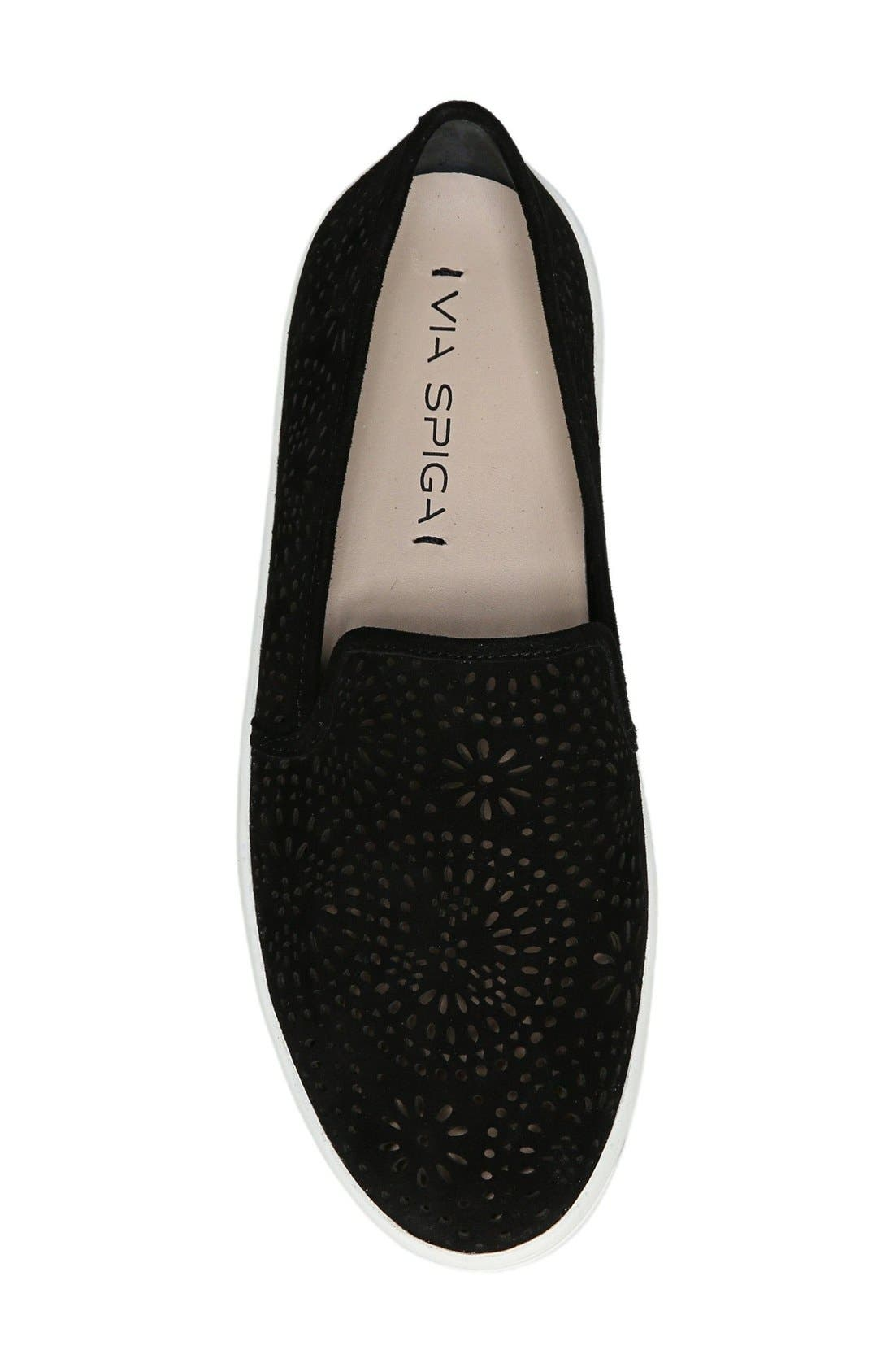 Alternate Image 3  - Via Spiga Gavra Perforated Slip-On Sneaker (Women)
