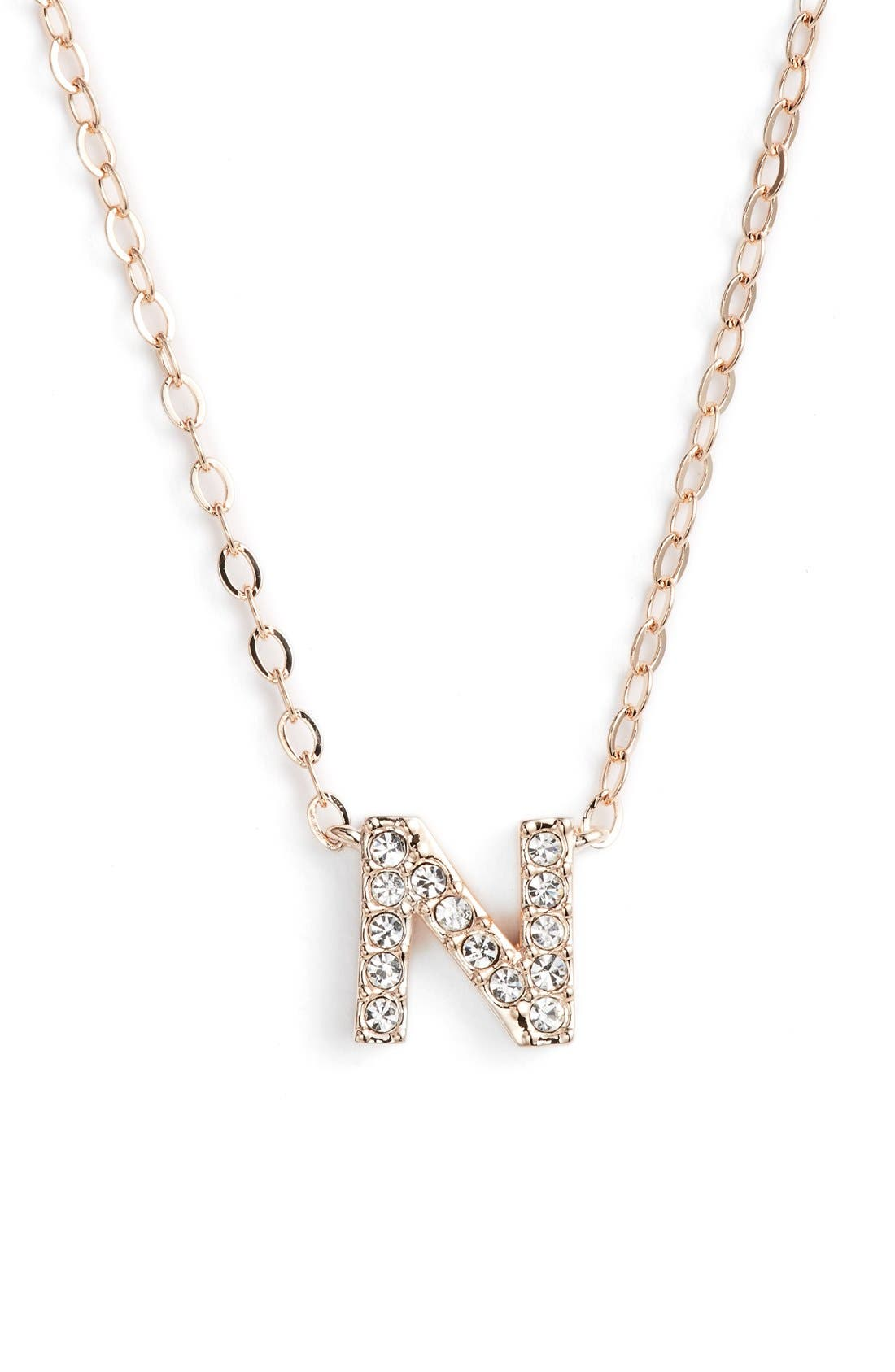 Nadri initial pendant necklace n rose gold modesens nadri initial pendant necklace n rose gold aloadofball Choice Image