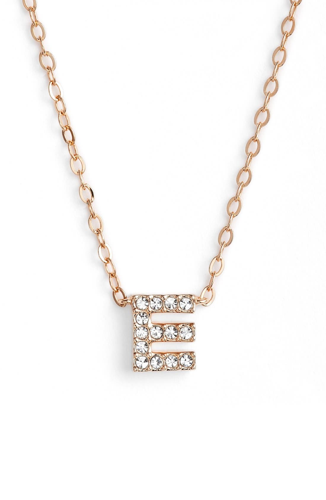 Nadri initial pendant necklace e rose gold modesens nadri initial pendant necklace e rose gold aloadofball Choice Image