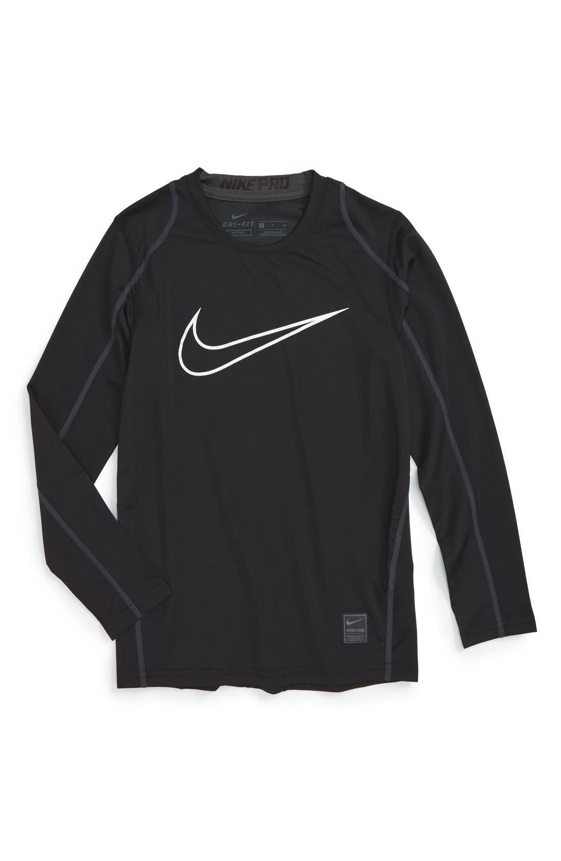 Cool Dri-FIT T-Shirt,                             Main thumbnail 1, color,                             Black/ Anthracite/ White