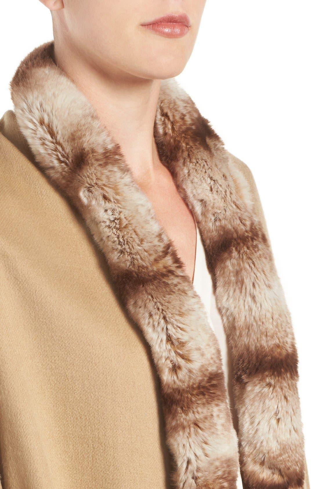 Alternate Image 4  - Badgley Mischka Faux Fur Trim Wrap