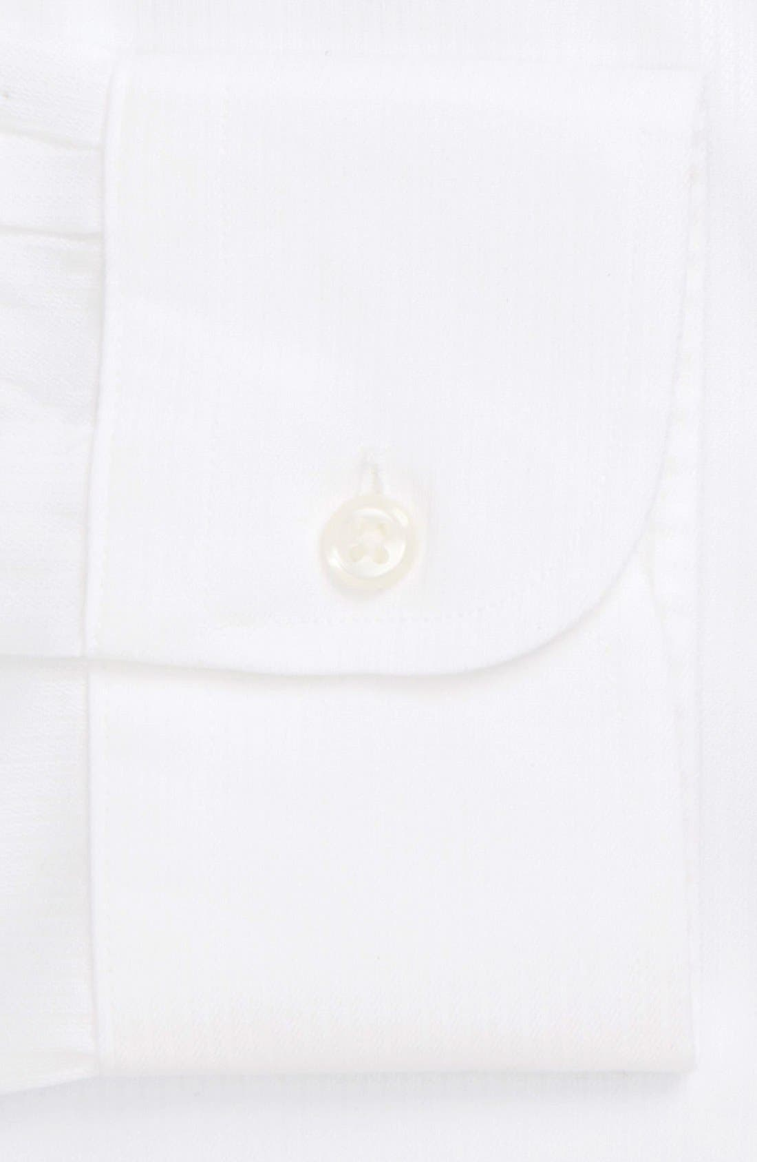 Smartcare<sup>™</sup> Traditional Fit Stripe Dress Shirt,                             Alternate thumbnail 5, color,                             White