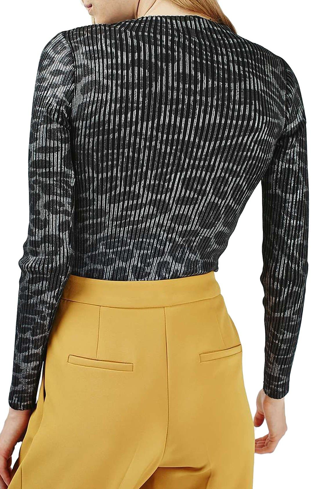 Alternate Image 3  - Topshop Animal Print Ribbed Turtleneck