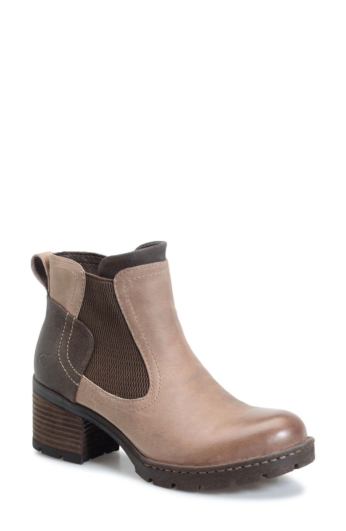 Madyson Chelsea Boot,                         Main,                         color, Mouse Leather